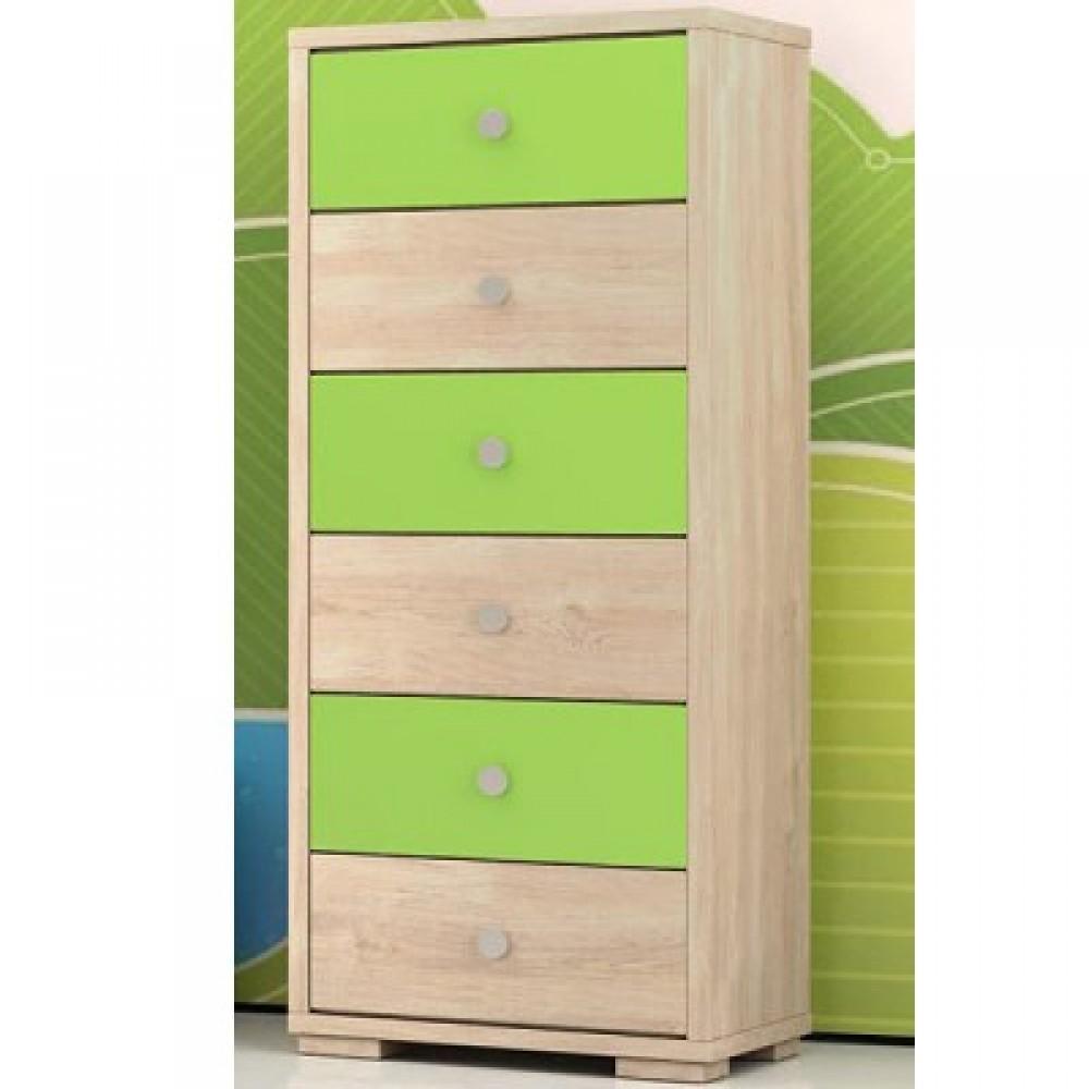 Συρταριέρα 6 συρτάρια (στενή) 60x112x40cm
