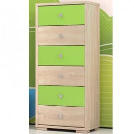 Συρταριέρα 6 συρτάρια (παιδική) 50x112x40cm