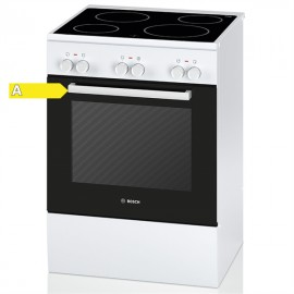Bosch HCA722120G Ηλεκτρική Κεραμική Κουζίνα Λευκή
