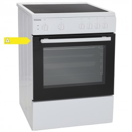 Eskimo ES 4030 W Ηλεκτρική Κουζίνα, Κεραμική Λευκή